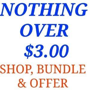 Bundle 5pcs for $15.00